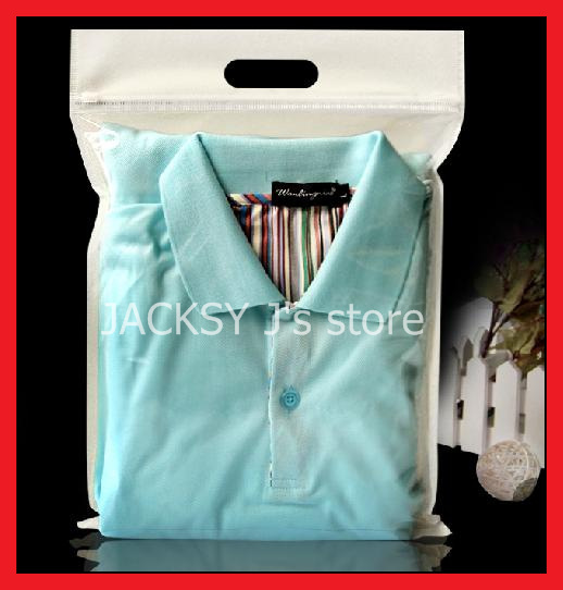 Buy 50pcs lot half non woven half for Plastic shirt bags wholesale