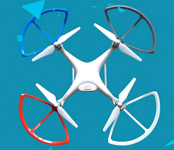 4pcs Plastic Quik Release Propeller Guard for DJI Phantom 4 RC Quadcopter Accessories Blade Protector Avoidance does not affect