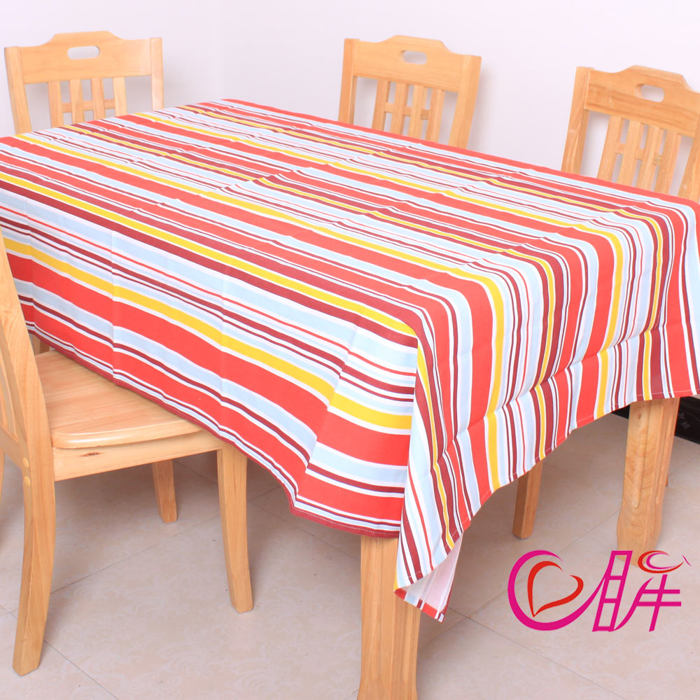 Home classic stripe table cloth 100% cotton canvas table cloth coffee table dining table cloth tablecloth fabric(China (Mainland))