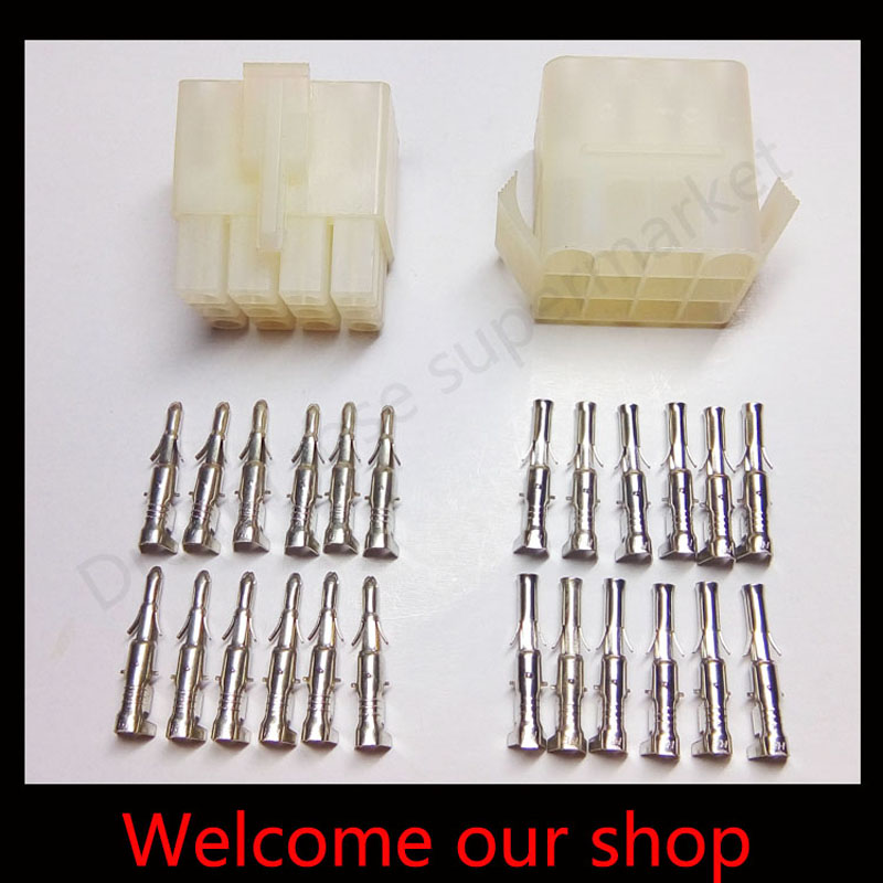 20sets L6.2-12P 12port Terminal 6.2mm pitch terminal for connector plug male Female socket plug for Car<br><br>Aliexpress