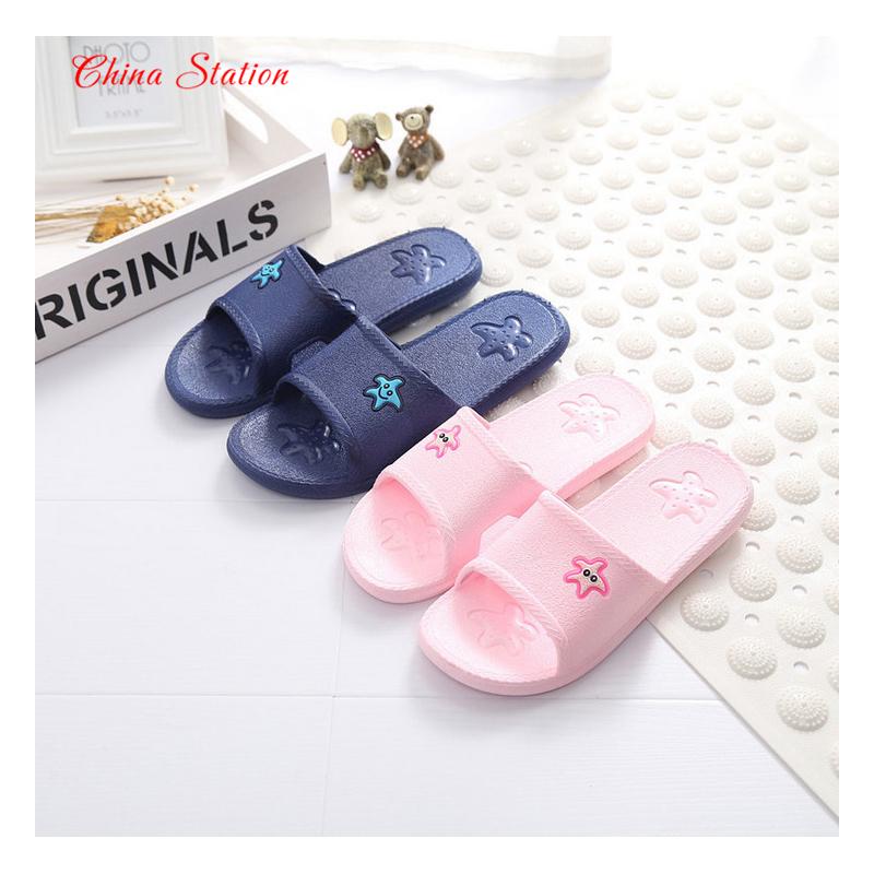 Women 39 s men 39 s fashion bathroom slippers summer plastic for Bathroom wear