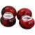 72pcs/lot Charm Beads Fashion Resin Beads Dark Red Big Hole Bead Fit Bracelet Making 151372