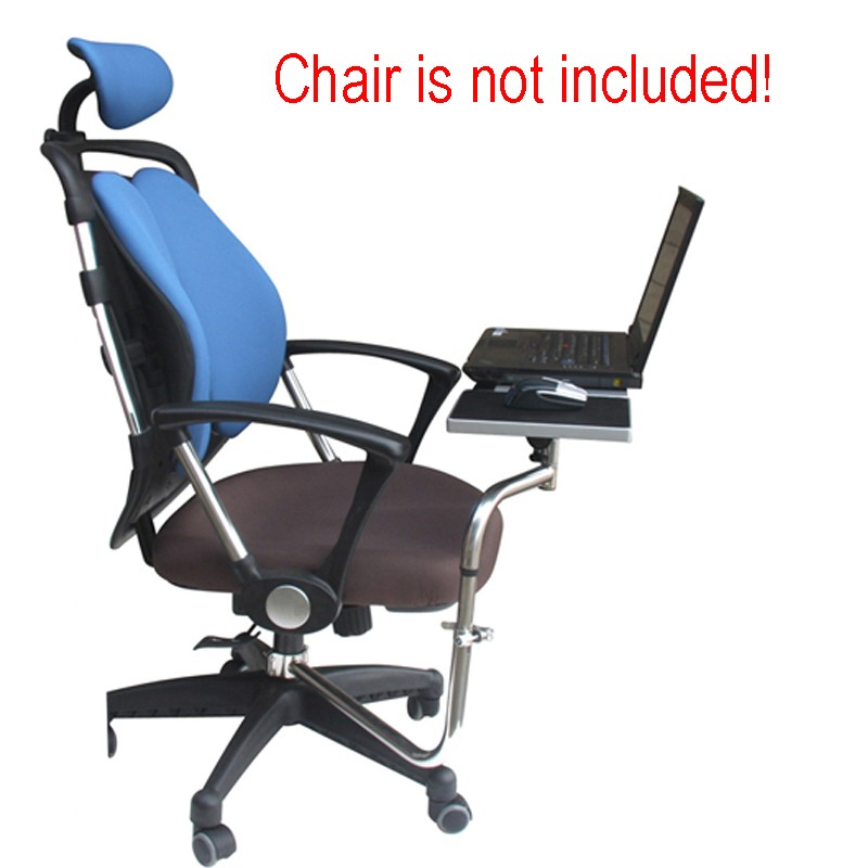 Multifunctoinal-Full-Motion-Chair-Desk-Clamping-Keyboard-Tray-Laptop-Holder-Mouse-Pad-for-Compfortable-Office-and