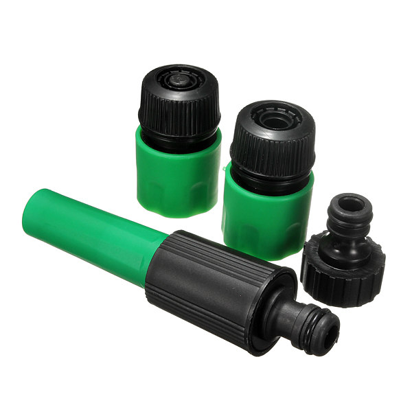 Hot Sale!!4pcs Garden Water Hose Pipe Tap Nozzle Connector Adapter Fitting Compatible Hozelock Repair Accessories Set(China (Mainland))