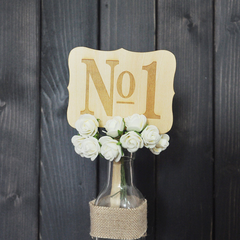 Personalized Rustic Wedding Table Numbers 10pieces/lot Wooden Wedding Table Cards(China (Mainland))