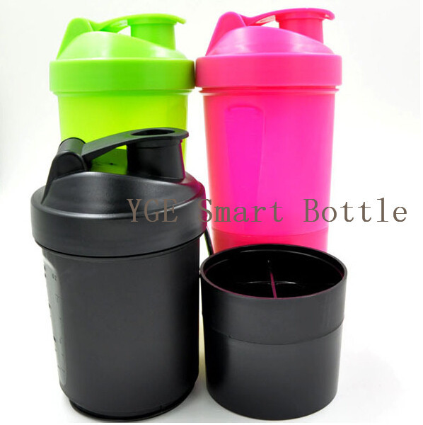 Protein Shaker Lot: Protein Shaker 3 In 1 Sports Water Bottle With Inserted