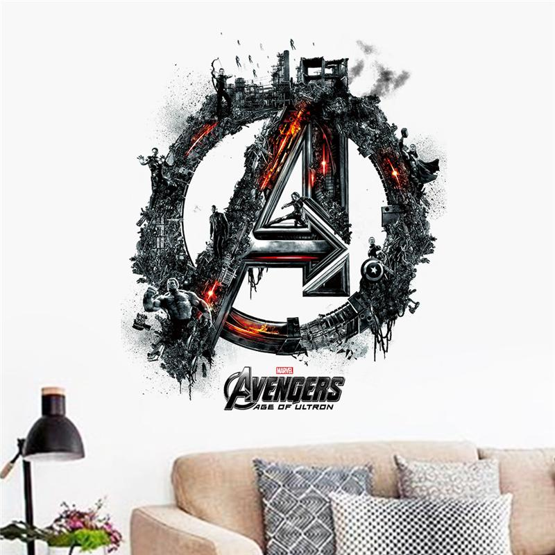 avengers age of ultron movie wall sticker kids bedroom decoration 1456. adesivo de paredes print mural art home decal poster 4.5(China (Mainland))