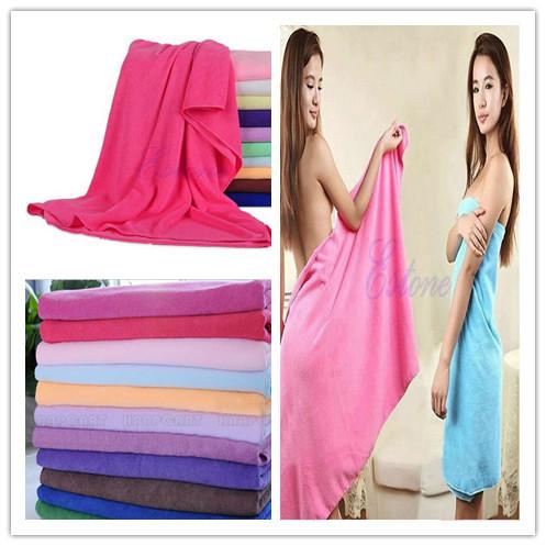 Sheet 70x140CM Fiber Absorbent Bath Shower Swimming Large Towels Washcloths Wrap Comfortable Soft(China (Mainland))