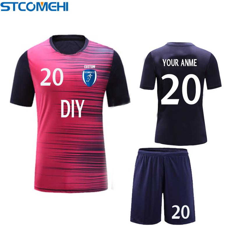 custom man kids soccer jersey custom personalized team logo number(China (Mainland))