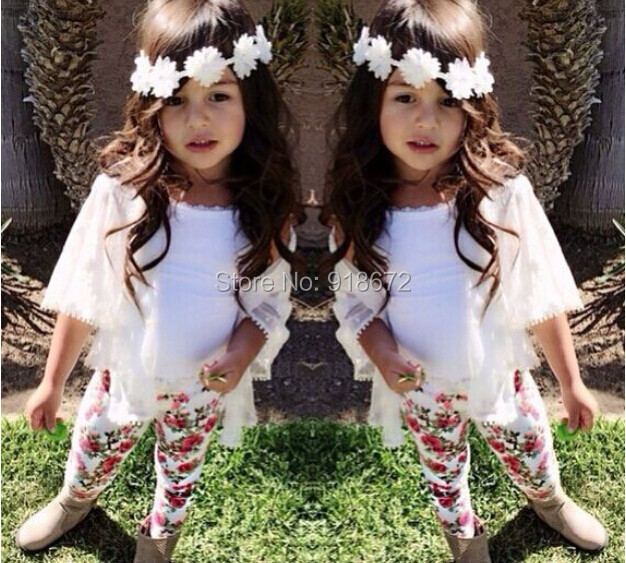 2015 Girl fashion clothing set kids summer wear loose-fitting set for girls cotton suit sets 2015 new children clothes(China (Mainland))