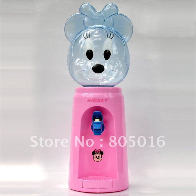 Mickey Cartoon 8 Glasses Desktop Mini Water Dispenser Fountain For Office Lady Free Shipping(China (Mainland))