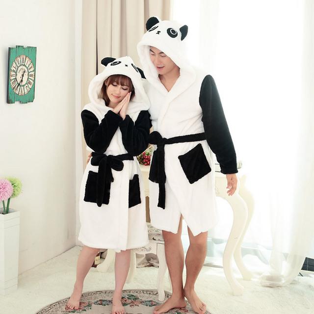 Высокое качество Panda Мультфильм Для Взрослых Халаты для женщин 2016 Длинные сексуальное ...