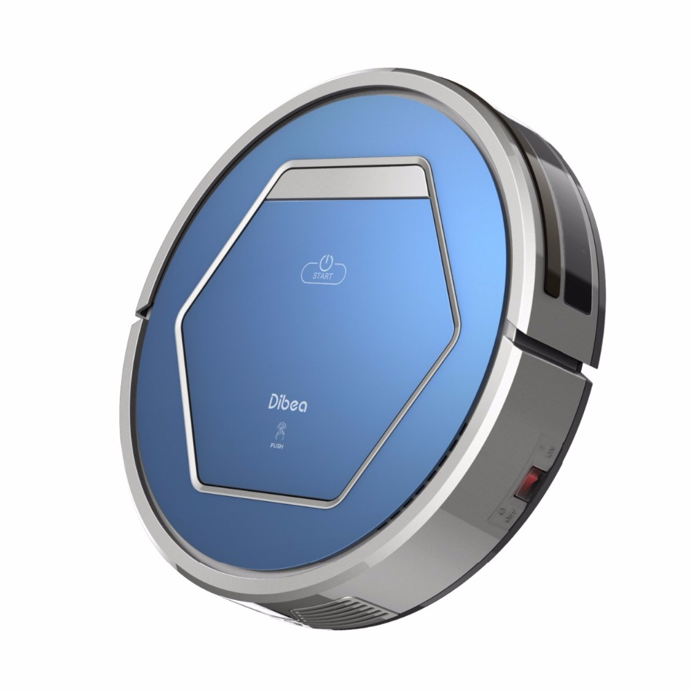 Dibea New Blue Robotic Vacuum Cleaner for Home Household Cleaniing with UV Sterilization Lamp Wet Mopping Auto Charging ZN808(China (Mainland))