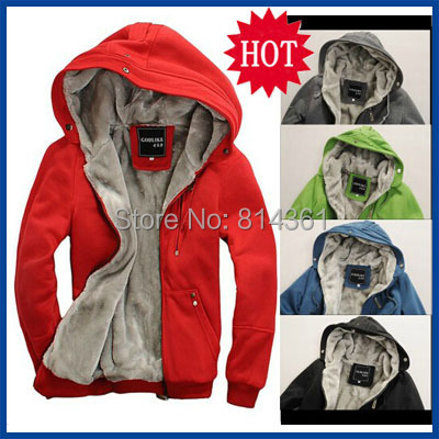 2015 New Mens Plush Thick Warm Hoodie Overcoat Winter Coat Hip Hop Fleece Hoodies Men's Padded Jacket Men Sweatshirt Man Hoody - Yiwu KingSun Fashion Apparel Co.,Ltd store