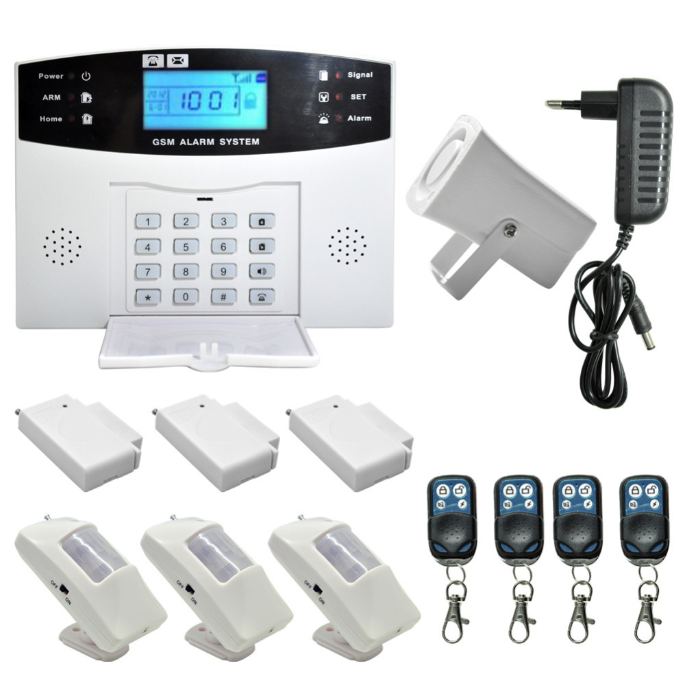 Wireless wired GSM SMS Home Security Intruder Auto Alarm System Office SOS Free Shipping(China (Mainland))