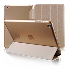 Ultra Thin Silk Magnetic PU Leather Case for iPad 4 3 2 & Ipad 3 & Ipad 2 Retina Tablet Smart Cover Stand for iPad Mini 3 2 1