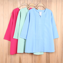 Free shipping blue green plus size Women's Clothing chiffon large Blouses Shirts 2016 spring summer new big Y433