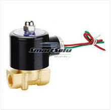 Free Shipping  two way valve Electric Solenoid Valve 1/4' for Air Water Gas Diesel, 2W025-08, NBR seal(China (Mainland))