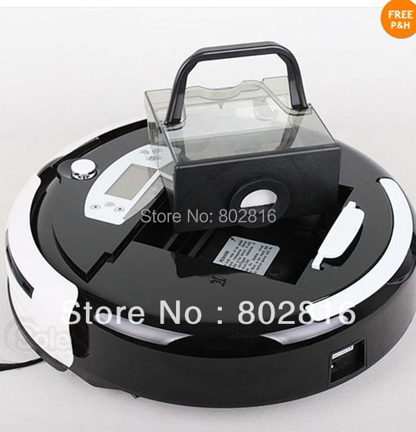 Free Shipping 4 In 1 Multifunctional Robot Carpet Cleaner With LCD,Touch Button,Schedule,Dirt Detection, 0.7L Capacity Dustbin(China (Mainland))