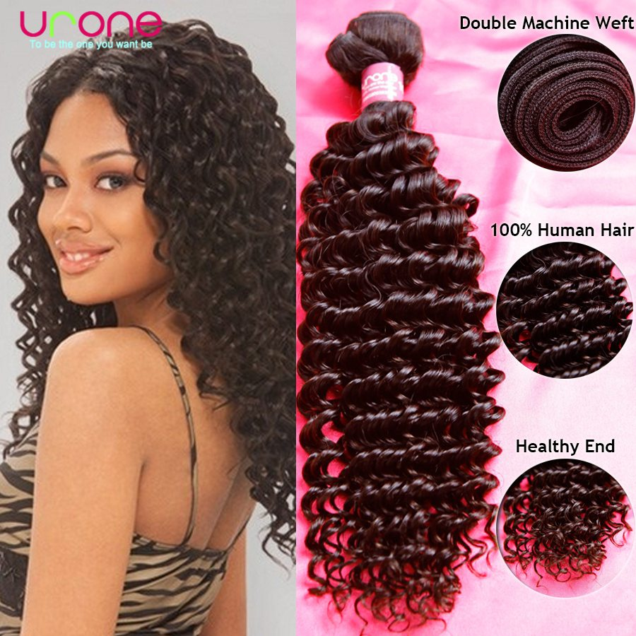 Nice 8A Brazilian deep curly human hair weave 100g bundle,100% Unprocessed virgin remy hair various texture can be choosed(China (Mainland))