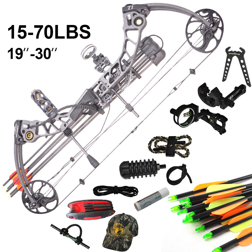 2015 New design Topoint T1 Hunting bow and arrow set 10 colors to choose compound bow