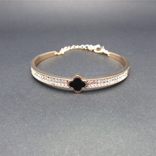 Rose Gold Plated Crystal Bracelet Bangle Jewelry Women Wedding Party Jewelry Br006