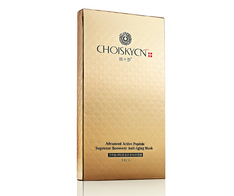 Фотография The genuine  Top Chinese Choiskycn Advanced Active Peptide Supreme Recovery Anti-aging Mask 25ml*5PCS Free Shipping