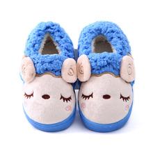 Inverno Scarpe Per Bambini Ragazzi Ragazze Pantofole Cute Cartoon Pecore Bambini Home Scarpe Morbido, Confortevole E Caldo Cotone Invernale Pantofole A Casa(China (Mainland))