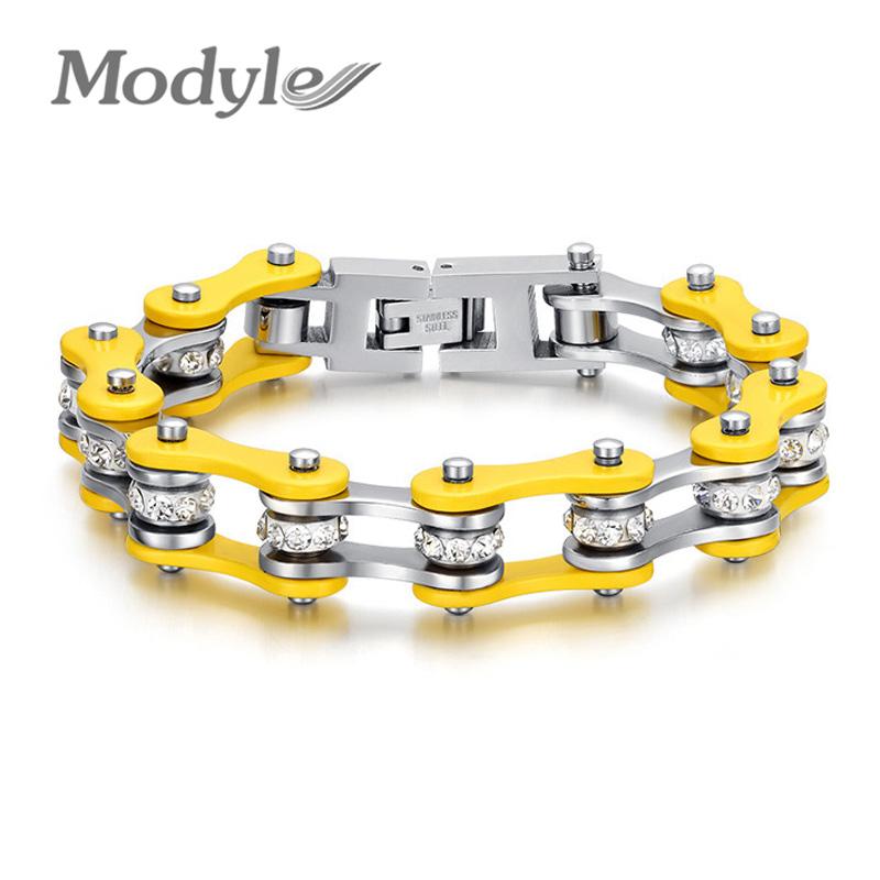 Christmas Gift Cool Bike Chain Bracelets for Women Stainless Steel Bracelets Bangles Women Jewelry(China (Mainland))