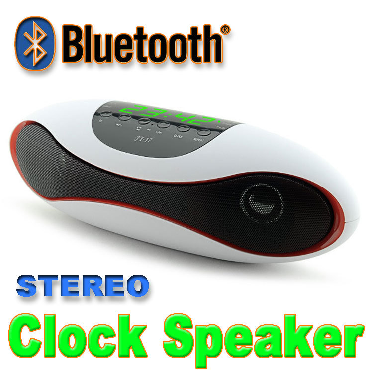New 2015 Portable Clock Bluetooth Speakers Metal Steel Wireless Smart Hands Free Speaker With FM Radio Support SD Card and USB<br><br>Aliexpress