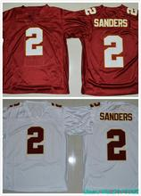 Hot sale 2016 Florida State Seminoles College Jerseys 2 Deion Sanders Jersey Throwback Color Red White(China (Mainland))