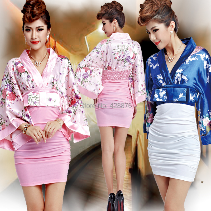 Kimono female formal short design japanese style sexy Japanese clothing designers