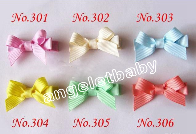 20pcs/lot Adorable Tiny baby Clip,simple newborn baby Hair Clip,Infant Mini itty-bitty Hair Bow FJ3212(China (Mainland))