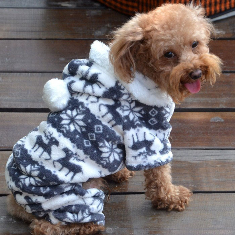 Гаджет  New brand 2015 Fashion Pet Dog Warm Clothes Puppy Jumpsuit Velvet Coat Doggy Apparel None Дом и Сад