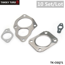 TANSKY- for Mitsubishi TD04 TD05 TURBO GASKET SET Outlet Inlet Oil Drain 4pcs*10pcs Turbo Gasket TK-CGQ71