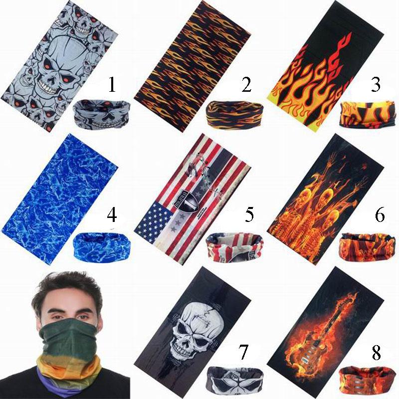 Ski Sport Riding Bicycle Motorcycle Variety Scarf Turban Hood Magic Headband Veil Head Scarves Face Mesh Skull Flame Bandanas(China (Mainland))