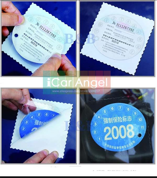 Windshield Protection Sticker Window Static sticker Holding Environment Insurance Inspection Label Clear Cling Electrostatic(China (Mainland))