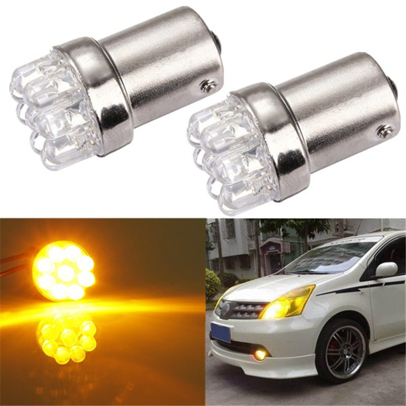 Hot Sale BA15S 1156 9 LED Car Auto Light Source Tail Brake Turn Signal Parking Bulbs Lamp P21W Amber Yellow White DC12V(China (Mainland))