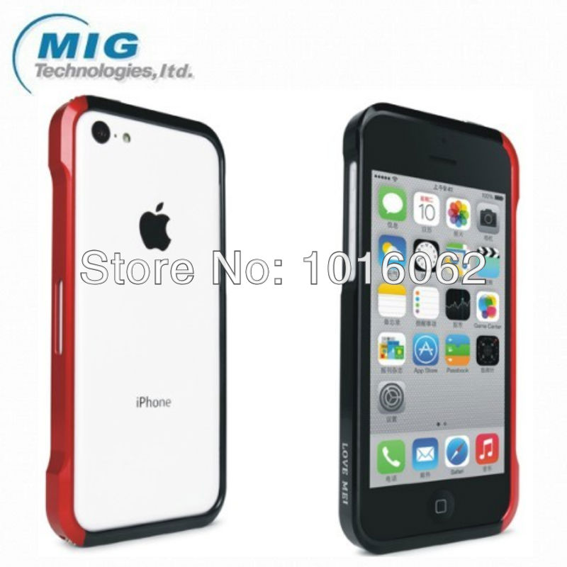 Free shipping 50pcs/lot Love mei Vapor 4 metal bumper For iphone 5C case, Phone case with packaging For apple iphone 5C(China (Mainland))