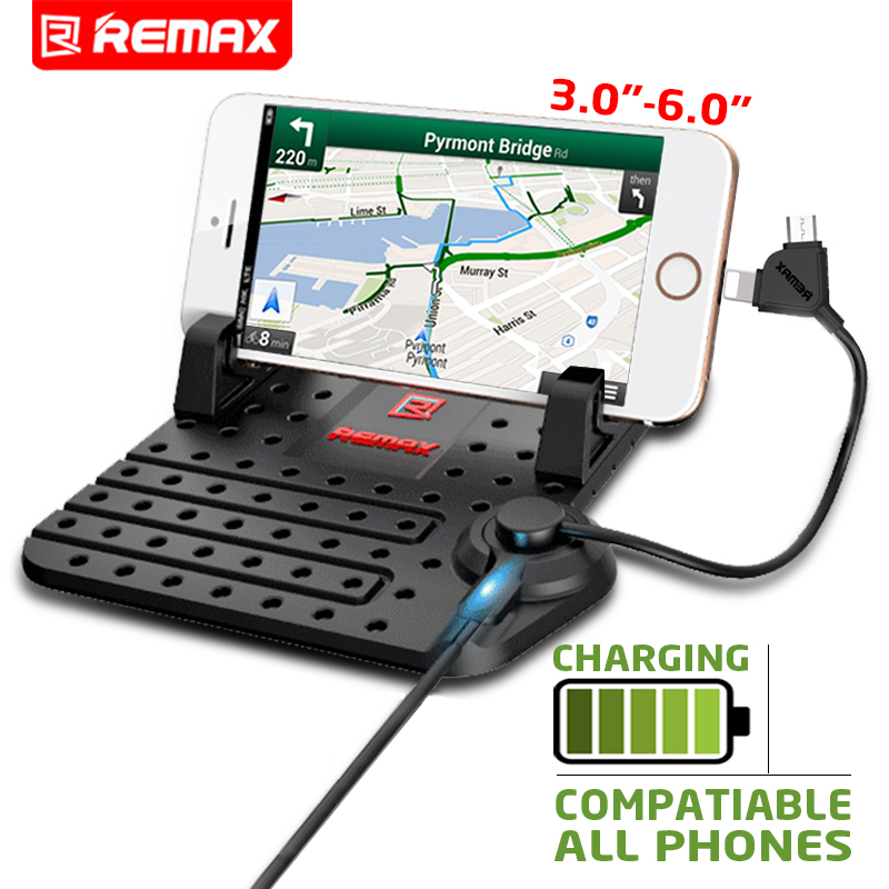 Remax Universal Mobile Phone Car Phone Holder For GPS iPad iPod iPhone Samsung XiaoMi Mi HuaWei Phone Car Holder Two Head Cable(China (Mainland))