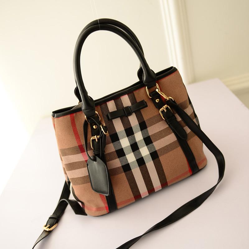 Color stripe handbag fashion retro vintage Canvas shoulder khaki bag ladies large canvas womens crossbody messenger - AliExpress China mall store