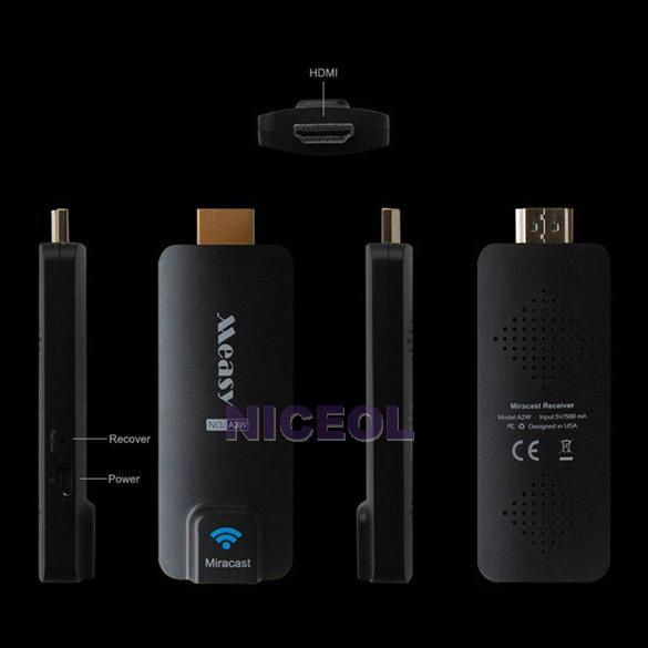 NI5L Measy A2W Miracast TV Stick Chromecast DLAN Airplay EZCast HDMI WIFI Dongle<br><br>Aliexpress