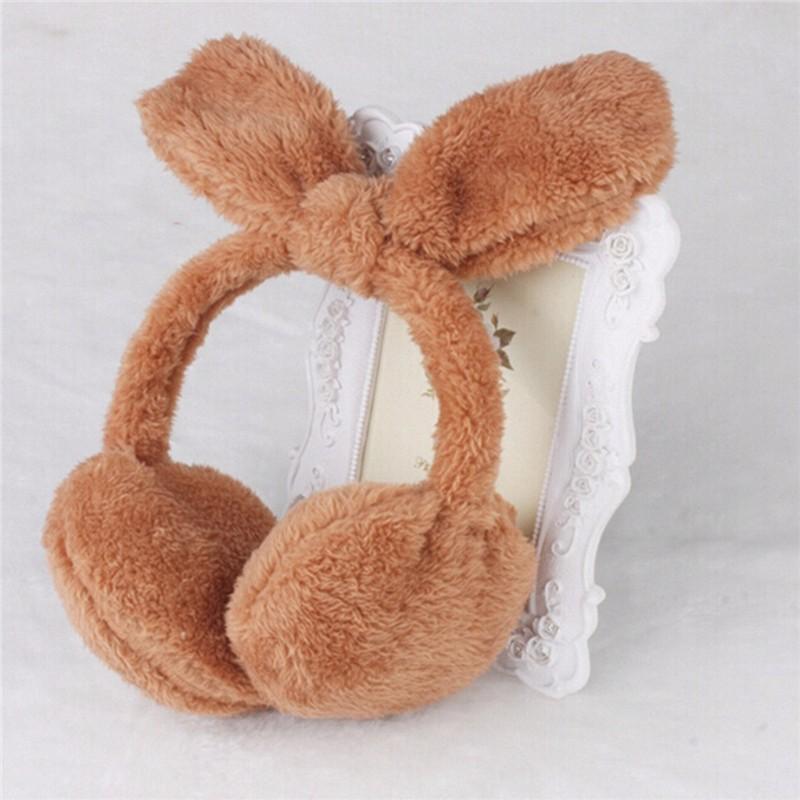 1 PCS/LOT Winter Warm Women Earmuff Hot 8 Colors Lovely Rabbit Pattern Lady Ears Muffs Cute Girls Soft Earlap Headband Random(China (Mainland))