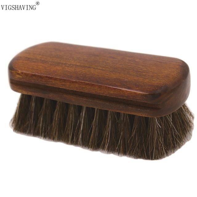 БОЛЬШОЙ Продвижение Деревянной Ручкой Натуральных Волос Лошади Нефти Борода Щетка для мужчин Бороды и Усы