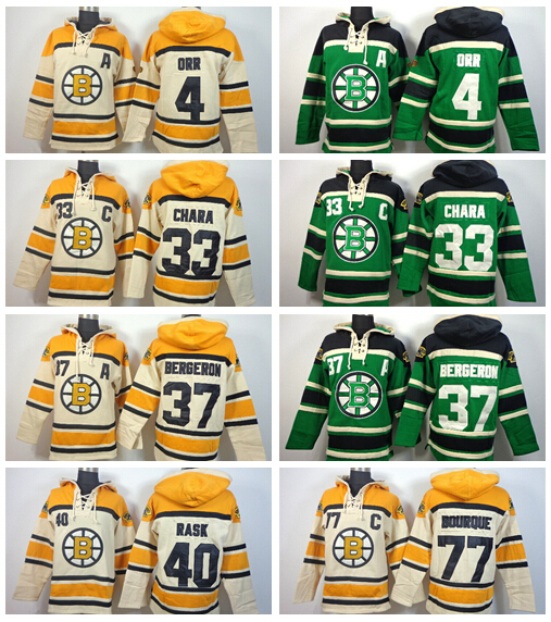 2015 New Boston Bruins Bobby Orr Hoody 4 Ice Hockey Pullover 37 Patrice Bergeron Hooded 17 Milan Lucic 46 David Krejci Sweatshir