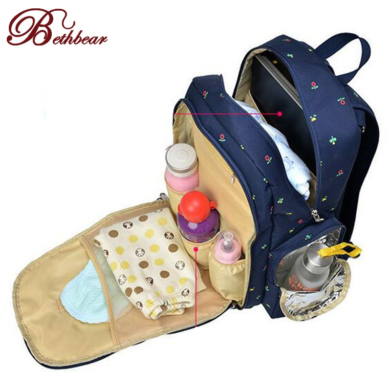 2016 Новый Большой емкости многофункциональный рюкзак мумия пеленки мешок пеленки младенца сумки мама материнства сумка младенцев уход продукта