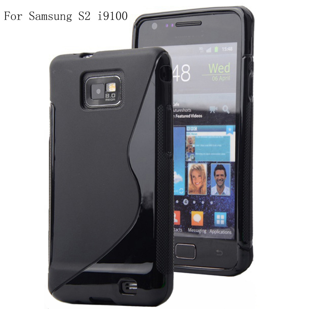 S2 S Line Soft TPU Gel Cell Phone Case Cover For Samsung Galaxy S2 i9100 Free Shipping(China (Mainland))