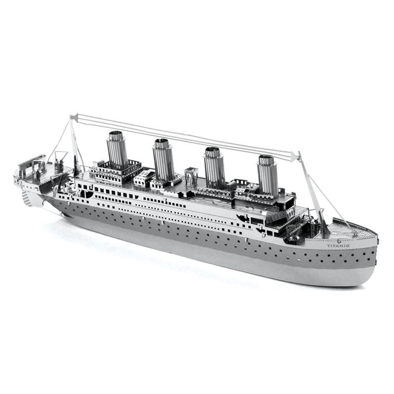 The Titanic Miniature 3D Metal Model Puzzle 3D Model Building Kits Puzzle 3D Solid Jigsaw Puzzle 1:1000+ Scale Model Building(China (Mainland))