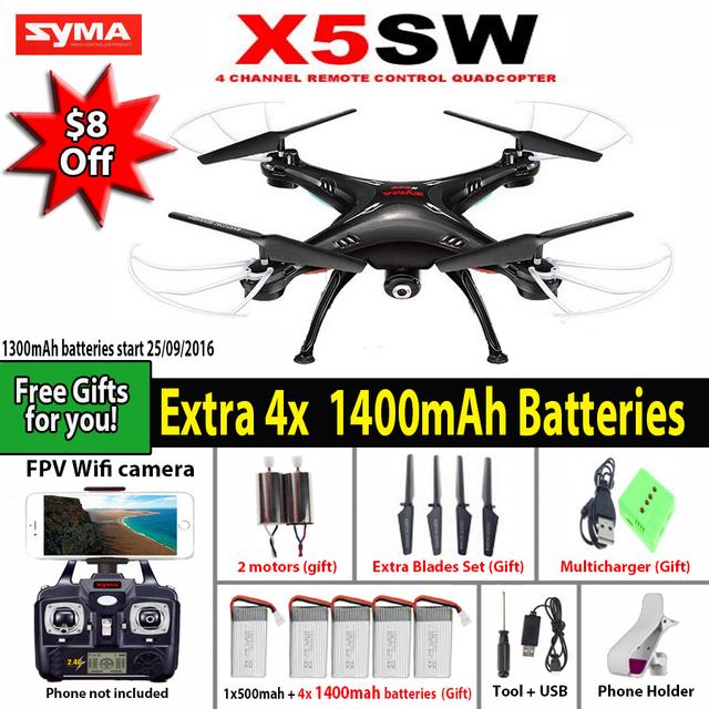 СЫМА X5SW/X5SW-1 WI-FI RC Drone Мультикоптер с 6-осевой FPV Камеры Без Головы Реального Времени Вертолет Quad вертолет Игрушки