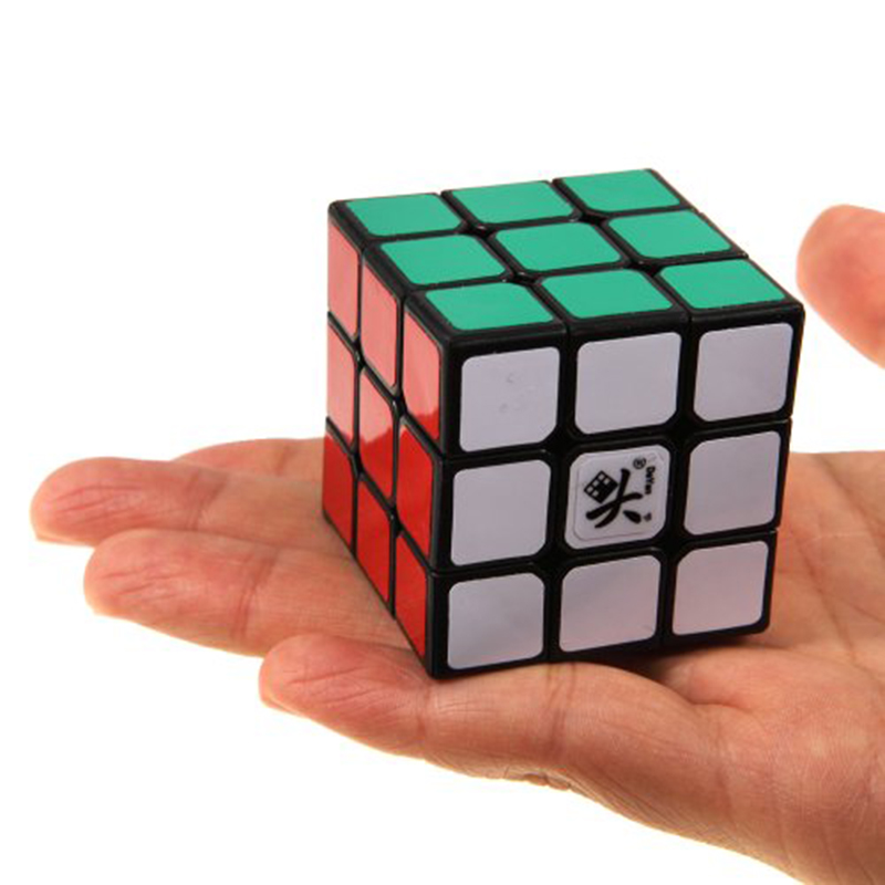 Hot Sale DaYan ZhanChi 42mm Mini 3x3x3 Magic Cube Speed Puzzle 4.2 cm Black Professional Puzzle Toy For(China (Mainland))